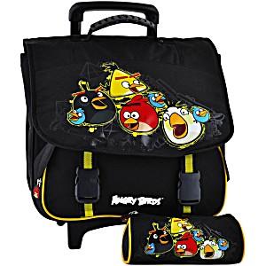 Школьный портфель на колесах Angry Birds + пенал