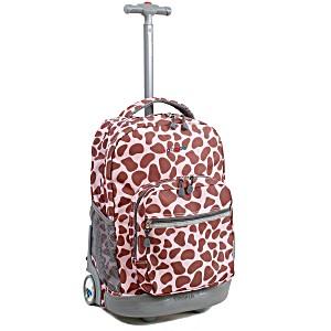 Универсальный школьный рюкзак на колесах JWORLD Sunrise Розовый Зулу