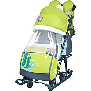 Санки коляска Ника Детям 7 2 Жираф