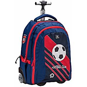 Рюкзак на колесах для школы Belmil Футбол 338-45/661 Football Club Red