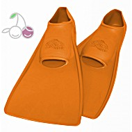 Ласты для бассейна резиновые детские размеры 25-26 оранжевые ПРОПЕРКЭРРИ (ProperCarry)