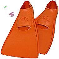 Ласты детские эластичные маленький размер 26 оранжевые закрытая пятка ProperCarry (ПРОПЕРКЭРРИ)